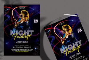 Club Dj Night Free PSD Flyer Template