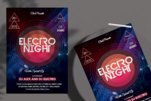 Electro Night Free PSD Flyer Template