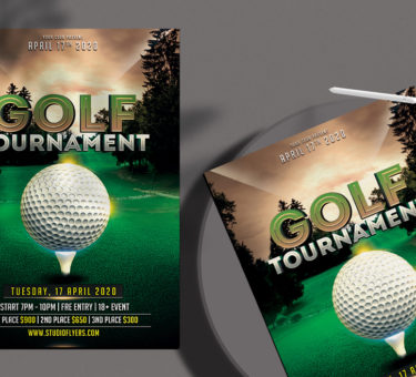 Golf Tournament Free PSD Flyer Template
