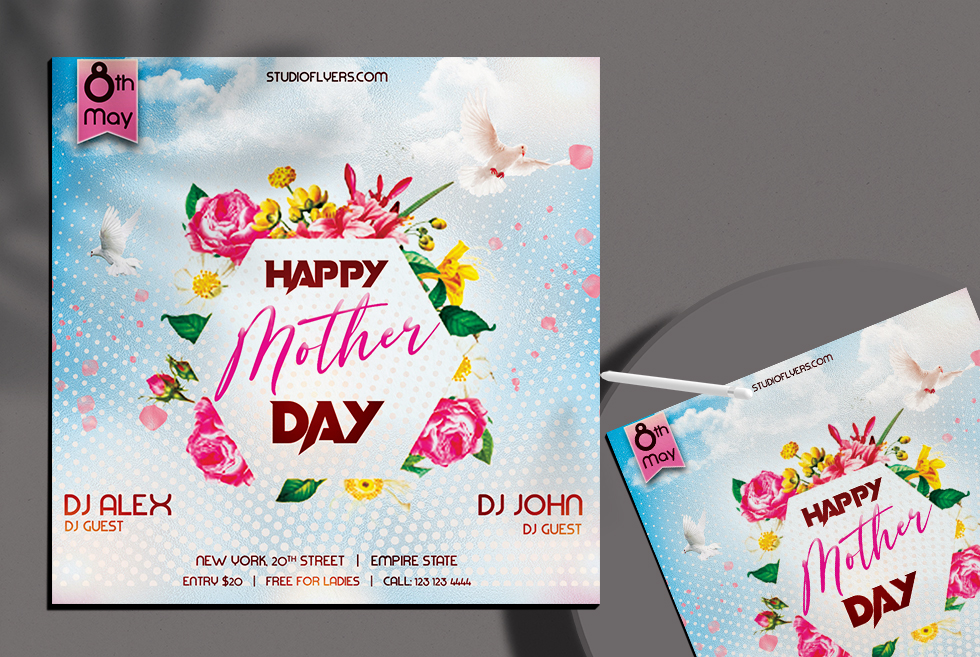 Happy Mother Day Free PSD Flyer Template
