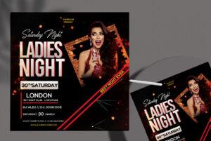 Ladies Club Free PSD Flyer Template