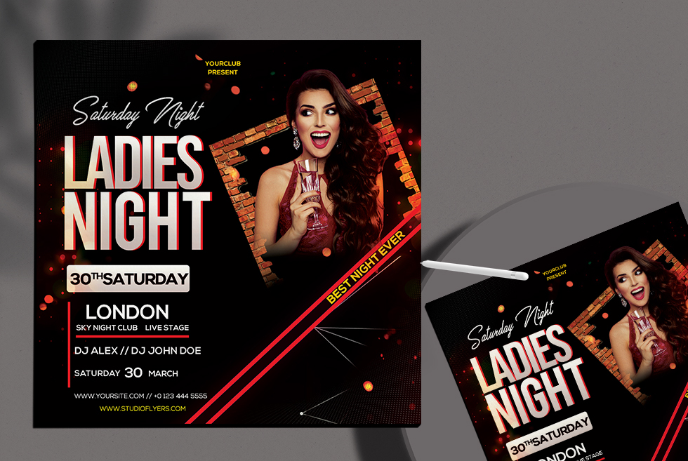 Ladies Club Free PSD Flyer Template