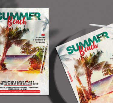 Summer Beach Free PSD Flyer Template