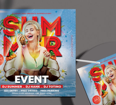 Summer Event Free PSD Flyer Template