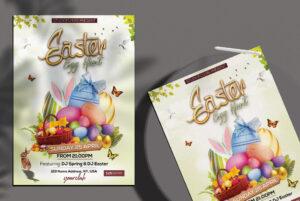 Easter Egg Hunt Free PSD Flyer Template