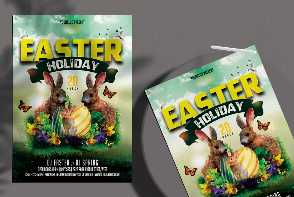 Easter Holiday Free PSD Flyer Template