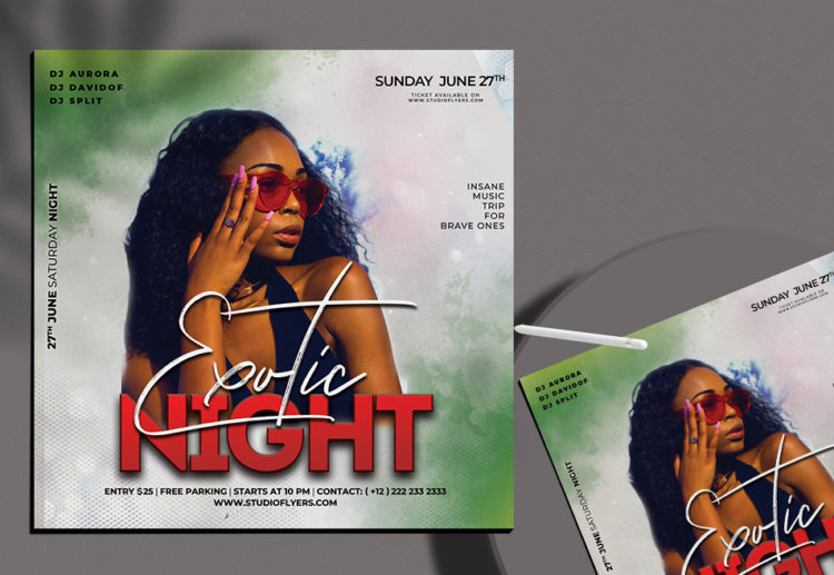 Exotic Night Free PSD Flyer Template