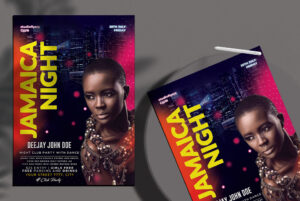 Jamaica Night Free PSD Flyer Template