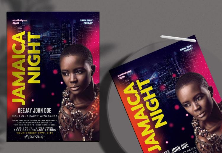 Jamaica Night Free PSD Flyer Template