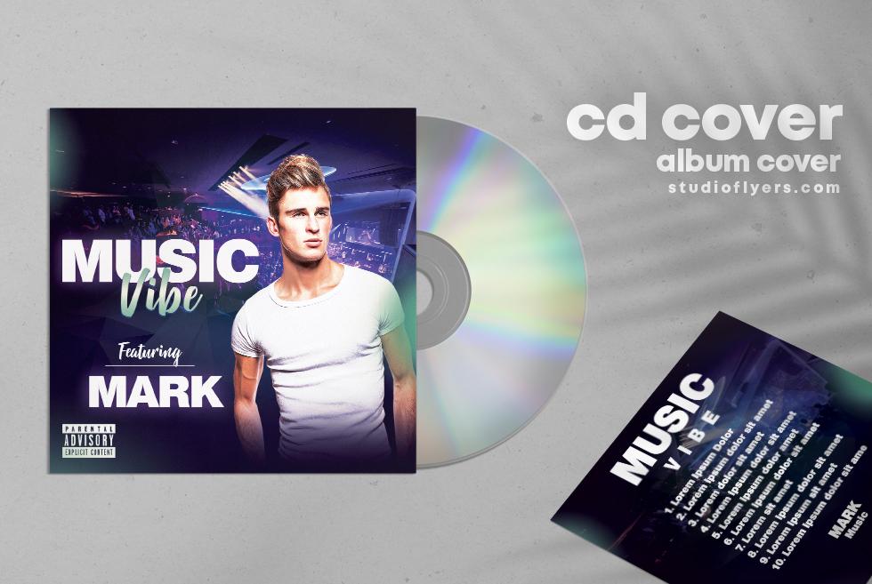 Music Vibe PSD Mixtape Free CD Artwork