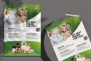 Pet Shop Free PSD Flyer Template