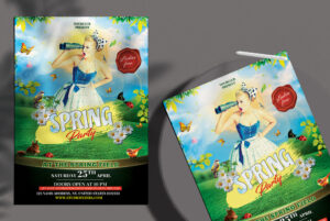 Spring Party Free PSD Flyer Template