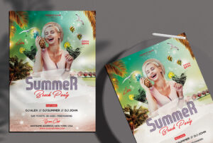 Summer Beach - PSD Flyer Template