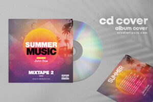 Summer Music Free Mixtape PSD Cover Artwork