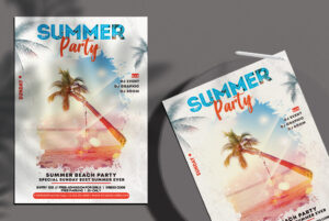 Summer Party - PSD Flyer Template