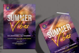 Summer Vibes PSD Flyer Free Template