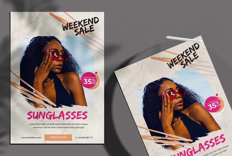 Weekend Sale Free PSD Flyer Template