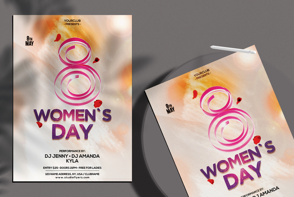 Womens Day Free PSD Flyer Template