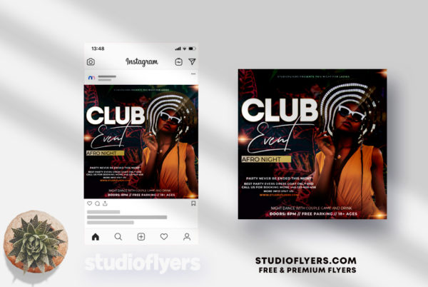 Club Event - PSD Flyer Template