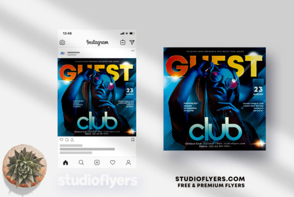 Guest Club - PSD Flyer Template
