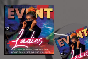 Ladies Event Flyer Free PSD Template