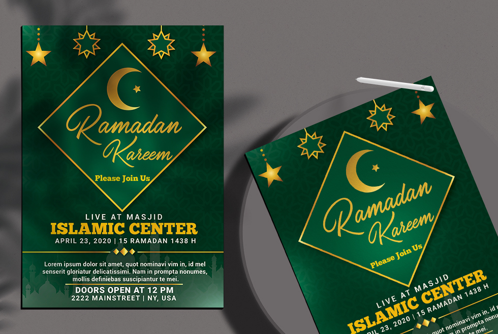 Ramadan Kareem Free PSD Flyer Template