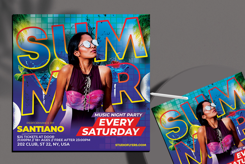 Summer Day Flyer Free PSD Template