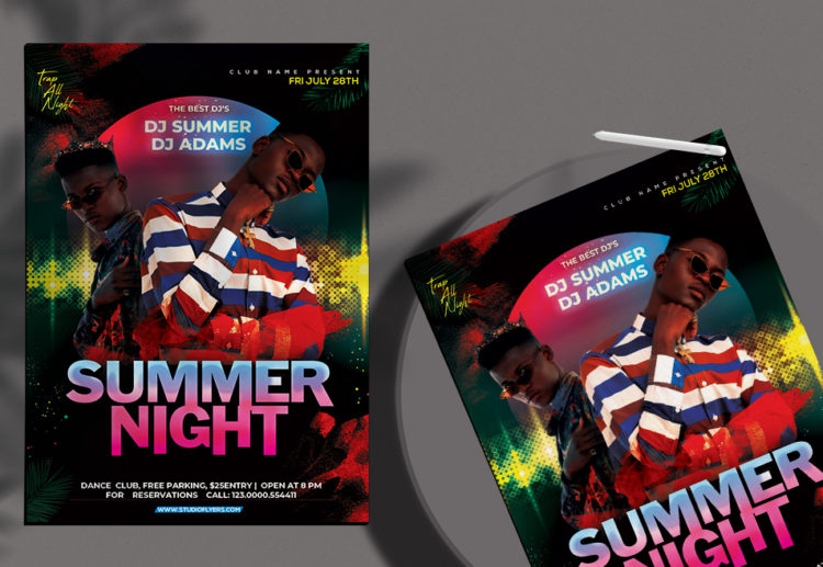 Summer Night Event Free PSD Flyer Template