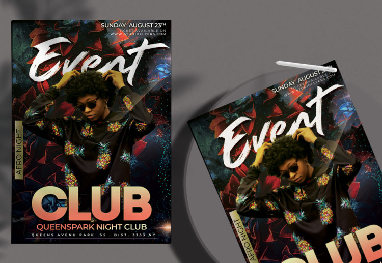 Club Event Flyer Free PSD Template