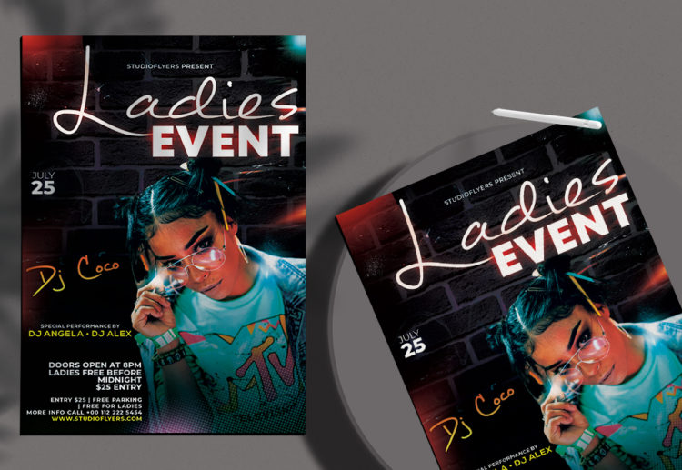 Dj Night Event Free Flyer PSD Template