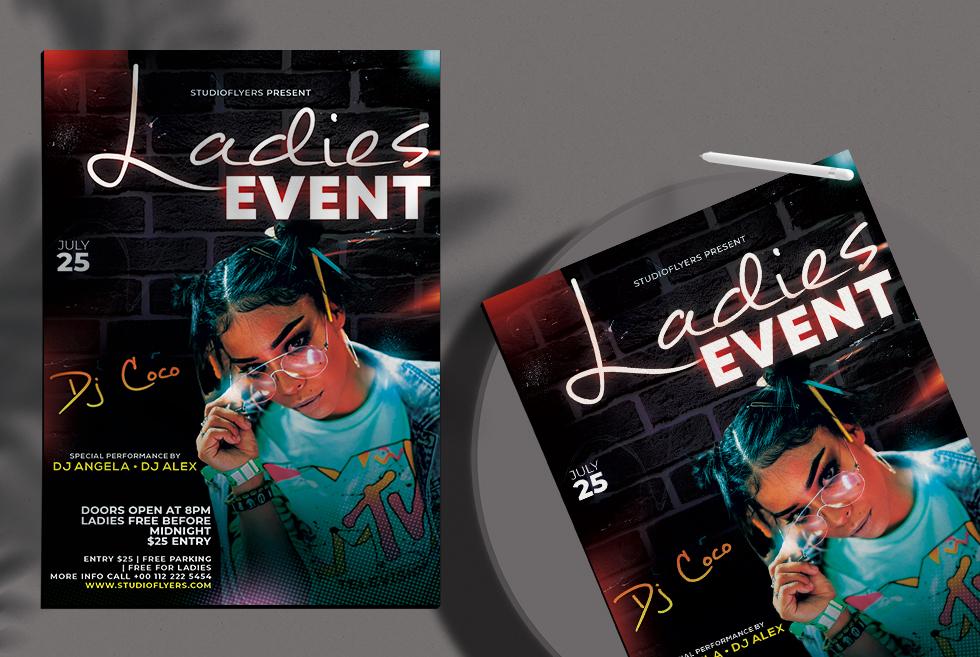 Dj Night Event Free Flyer PSD Template