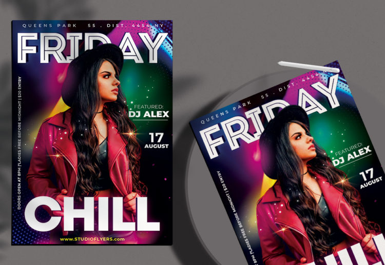 Friday Night Chill Free PSD Flyer Template
