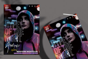 Hype Night Event Free PSD Flyer Template