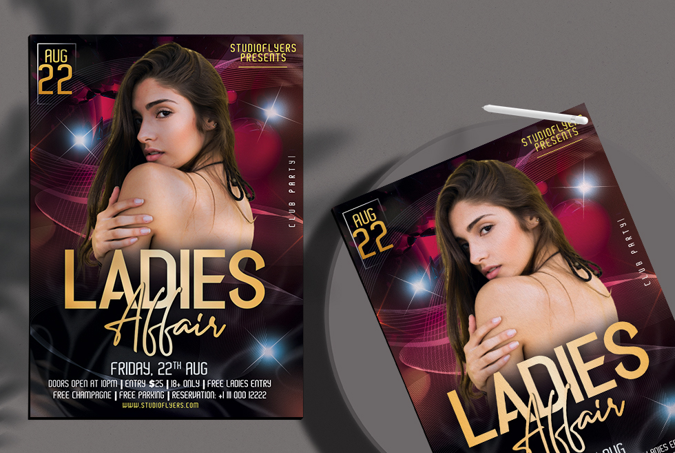 Ladies Affair Night Free PSD Flyer Template