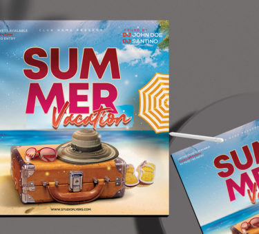 Summer Vacation Free PSD Flyer Template