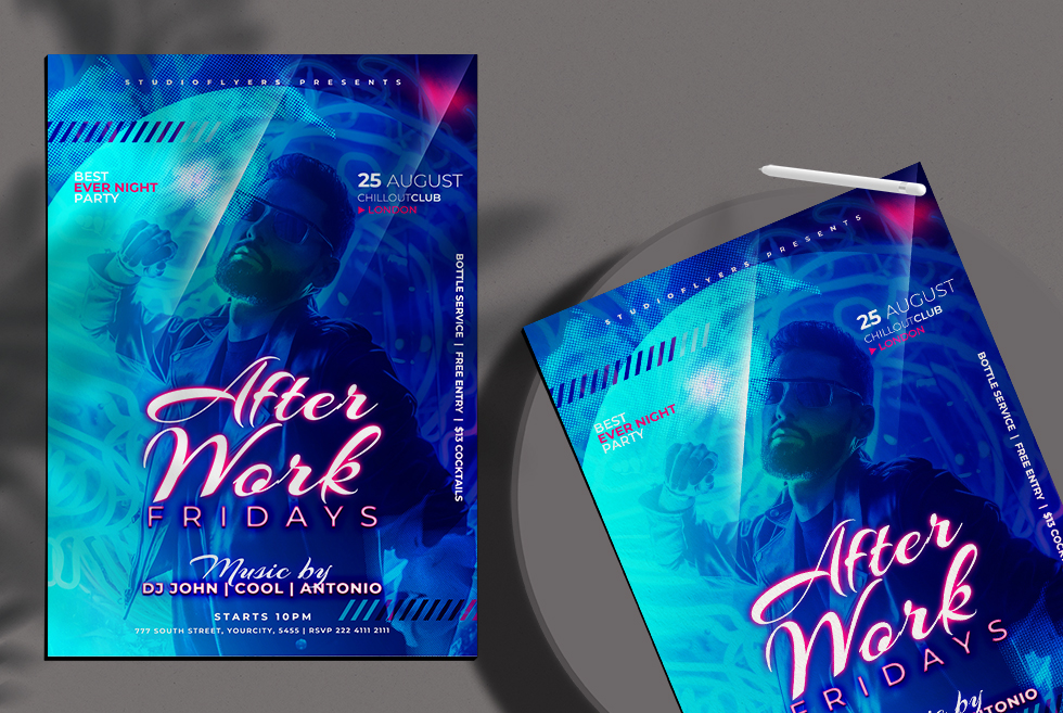 After Work Flyer Free PSD Template