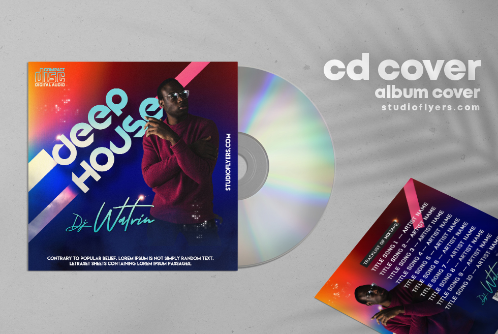 Deep House CD Cover PSD Free Template