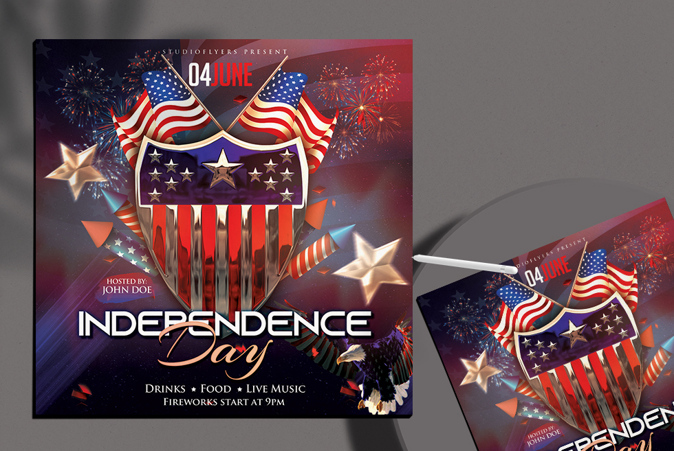 Independence Day Flyer Free PSD Template