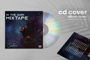 In The Dark CD Cover Free PSD Template
