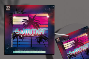Celebration Summer Free PSD Flyer Template