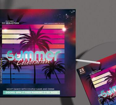 Celebration Summer Free PSD Flyer Template