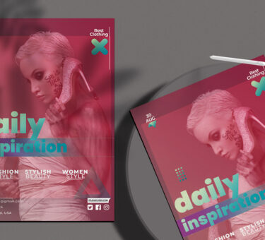 Daily Inspiration Free PSD Flyer Template