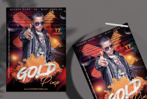 Gold Pimp Free PSD Flyer Template