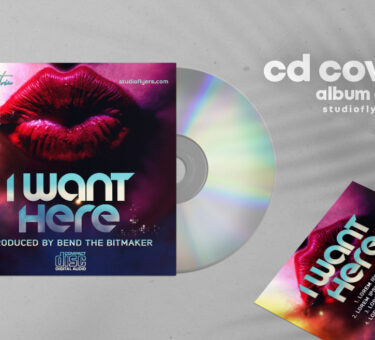 I Want Here CD Artwork Free PSD Template