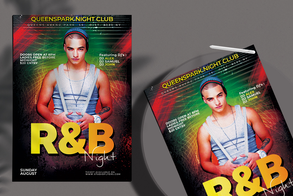 R&B Night Free PSD Flyer Template