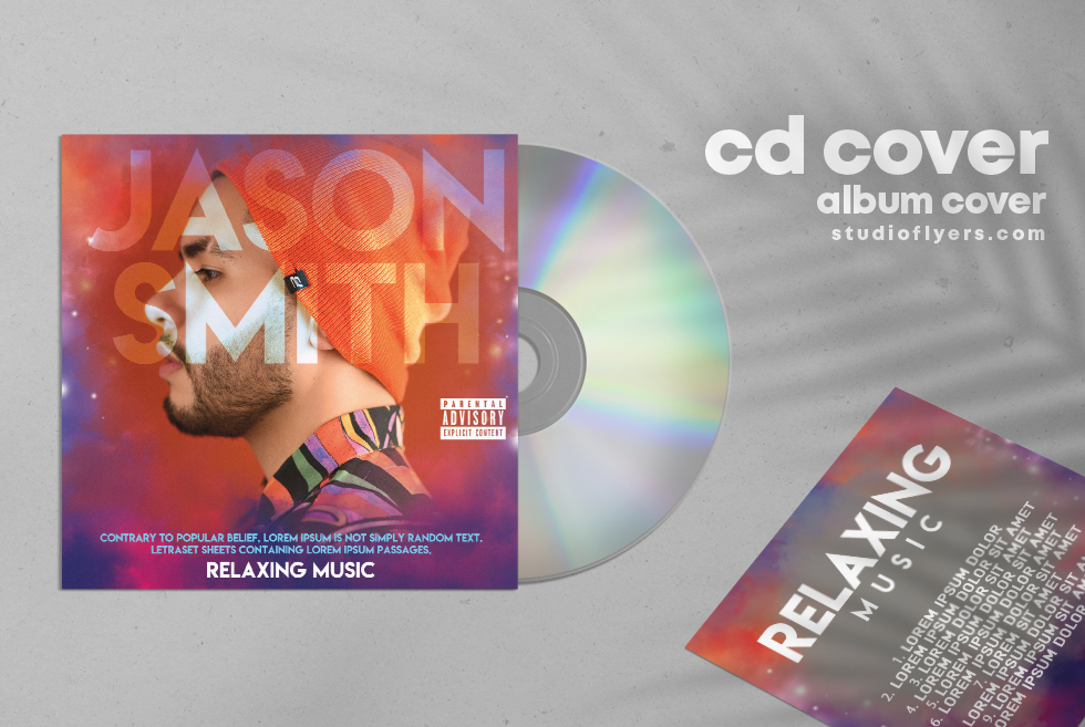 Relaxing Music Free CD Cover PSD Template