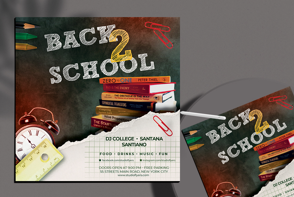 Back to School vol.2 Free PSD Flyer Template