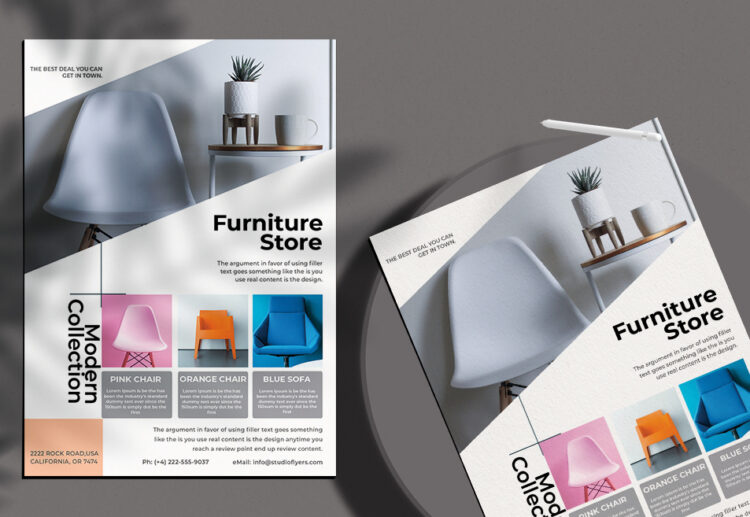 Furniture Store Free PSD Flyer Template