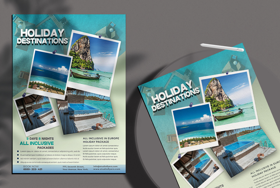 Holiday Vacation Free PSD Flyer Template
