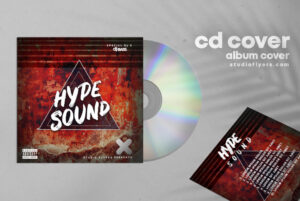 Hype Sound Cd Cover Art Free PSD Template